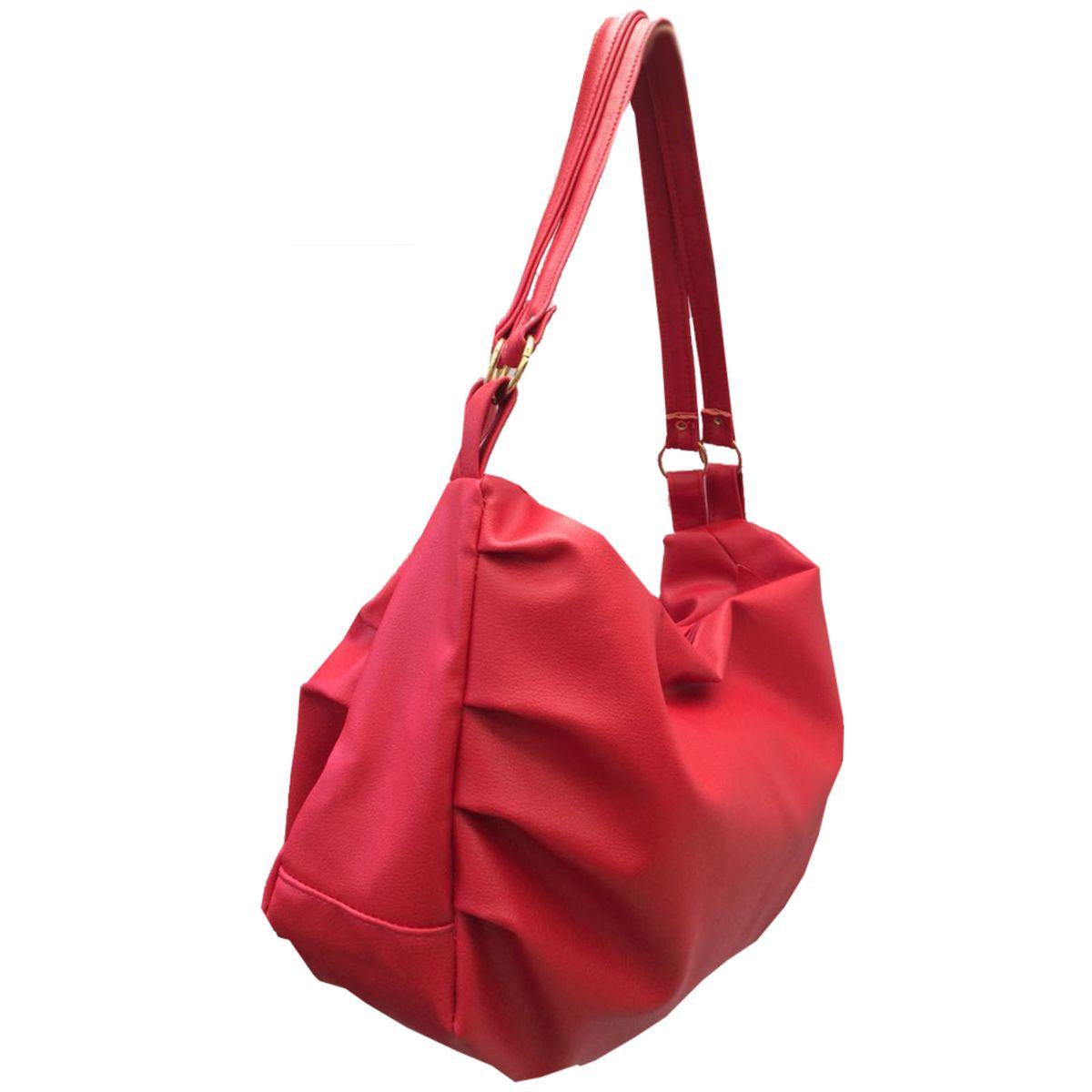 b55f48703 Bolsa Feminina Grande Transversal Couro Sintético Vermelho com 2 Alças    Bolsa de Ombro Feminina Meu Tio Que Fez Nunca Usado 30005299   enjoei