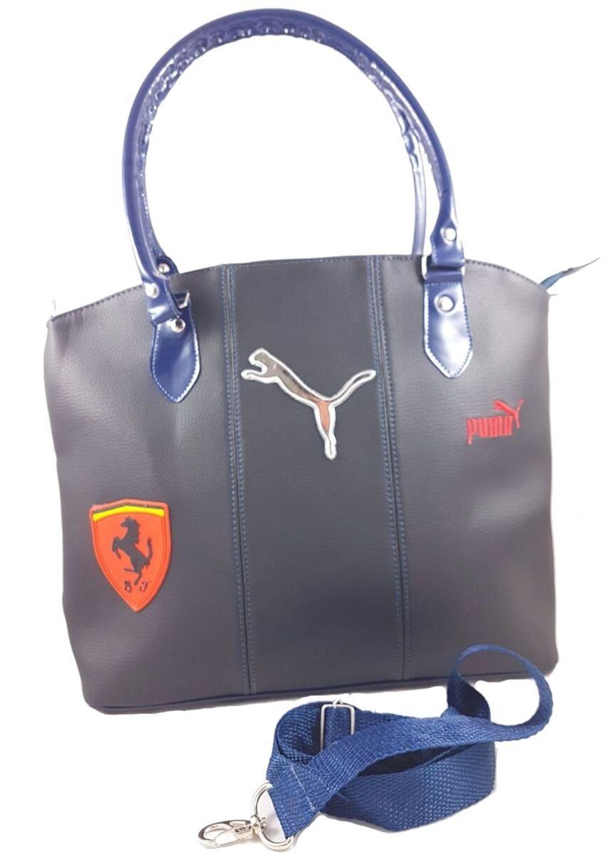 fe537ac04 Bolsa Feminina Importada Transversal Puma Ferrari   Bolsa de Ombro ...