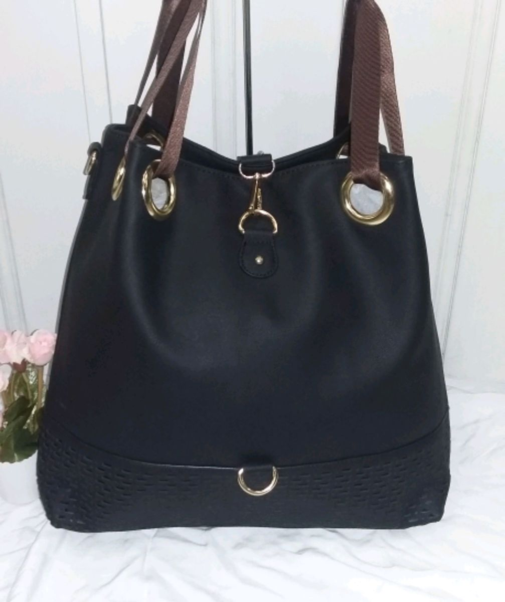 65c3b3e1c bolsa feminina saco alça larga couro sintético grande - ombro importado