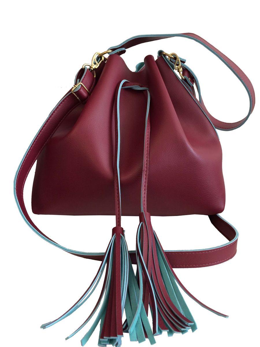bfaeff5e6 bolsa feminina nacional saco da moda bordô - sku: 45.1 - ombro meu tio que