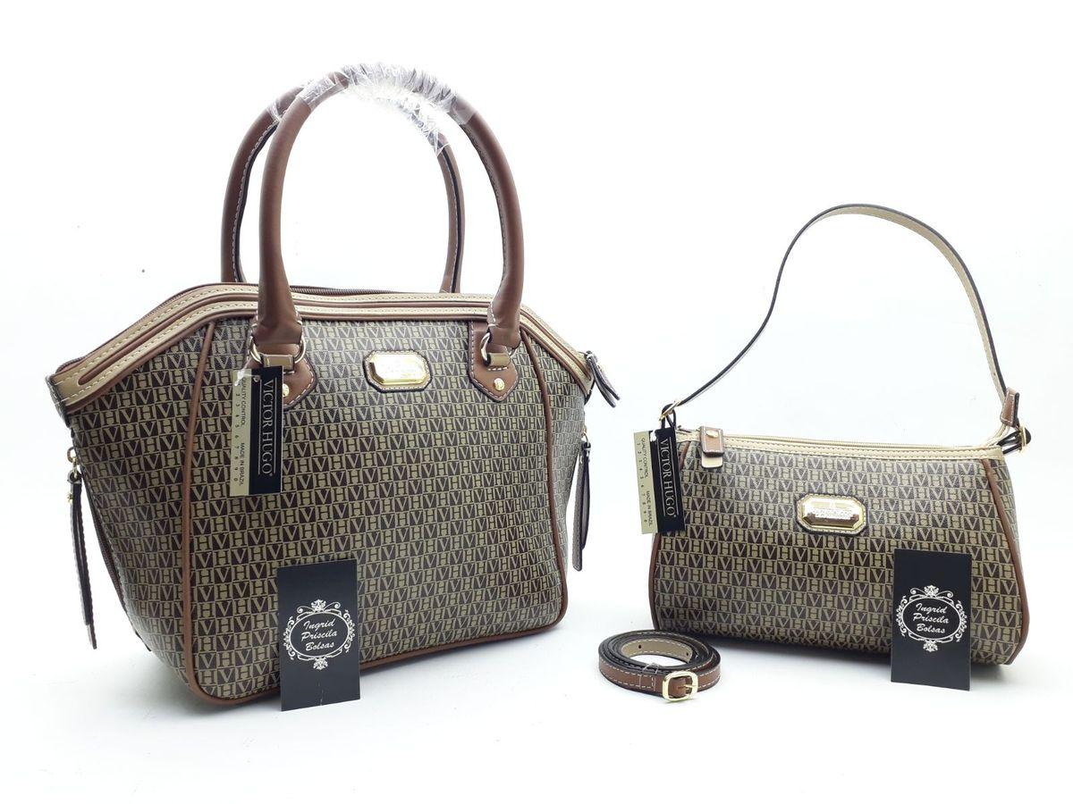 b6d0d2f72 bolsa feminina victor hugo vitor kit carteira coleção nova schutz coleção  nova mk lv vh -