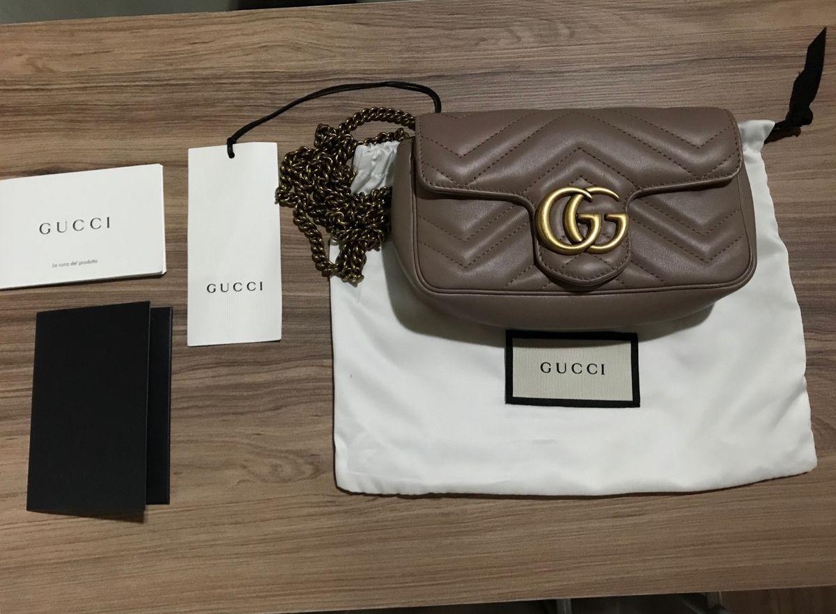 cce084b06 Bolsa Gucci Gg Marmont Matelassé Super Mini | Bolsa de mão Feminina ...