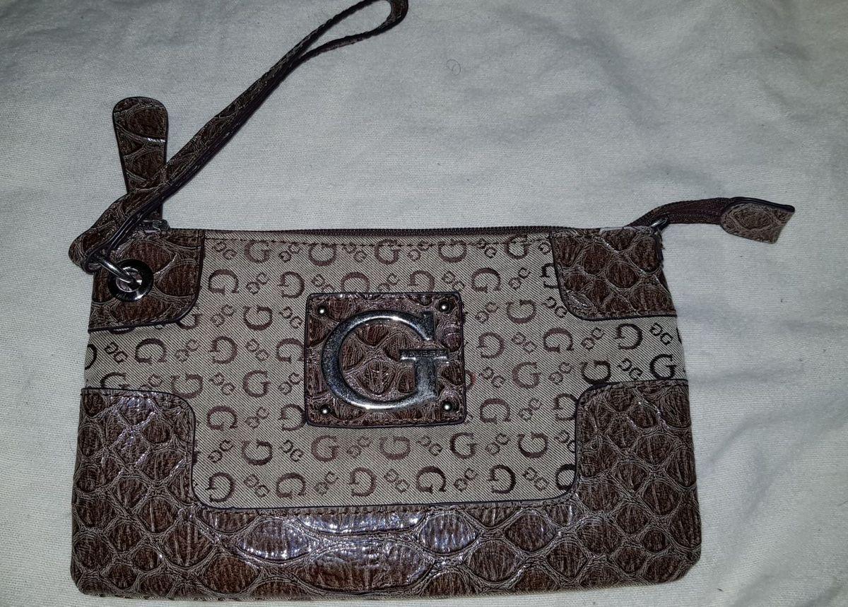 10f05b705 Bolsa Guess Clutche Original Marrom | Clutch Feminina Guess Usado ...