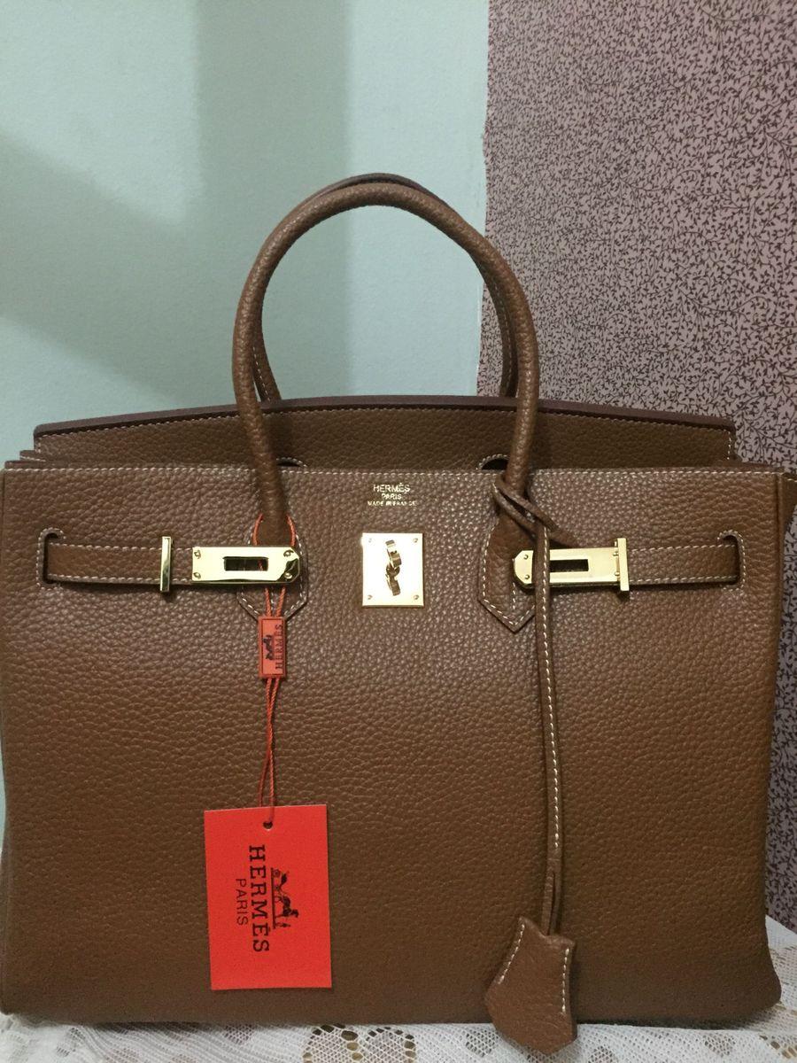3b18220d041 bolsa hermès birkin marrom caramelo - de mão hermès