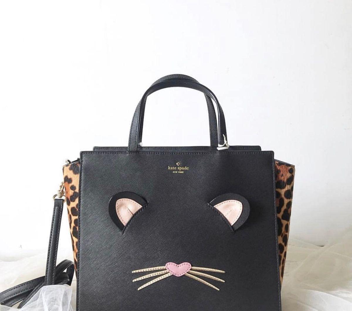 bolsa kate spade leopardo original - de mão kate-spade