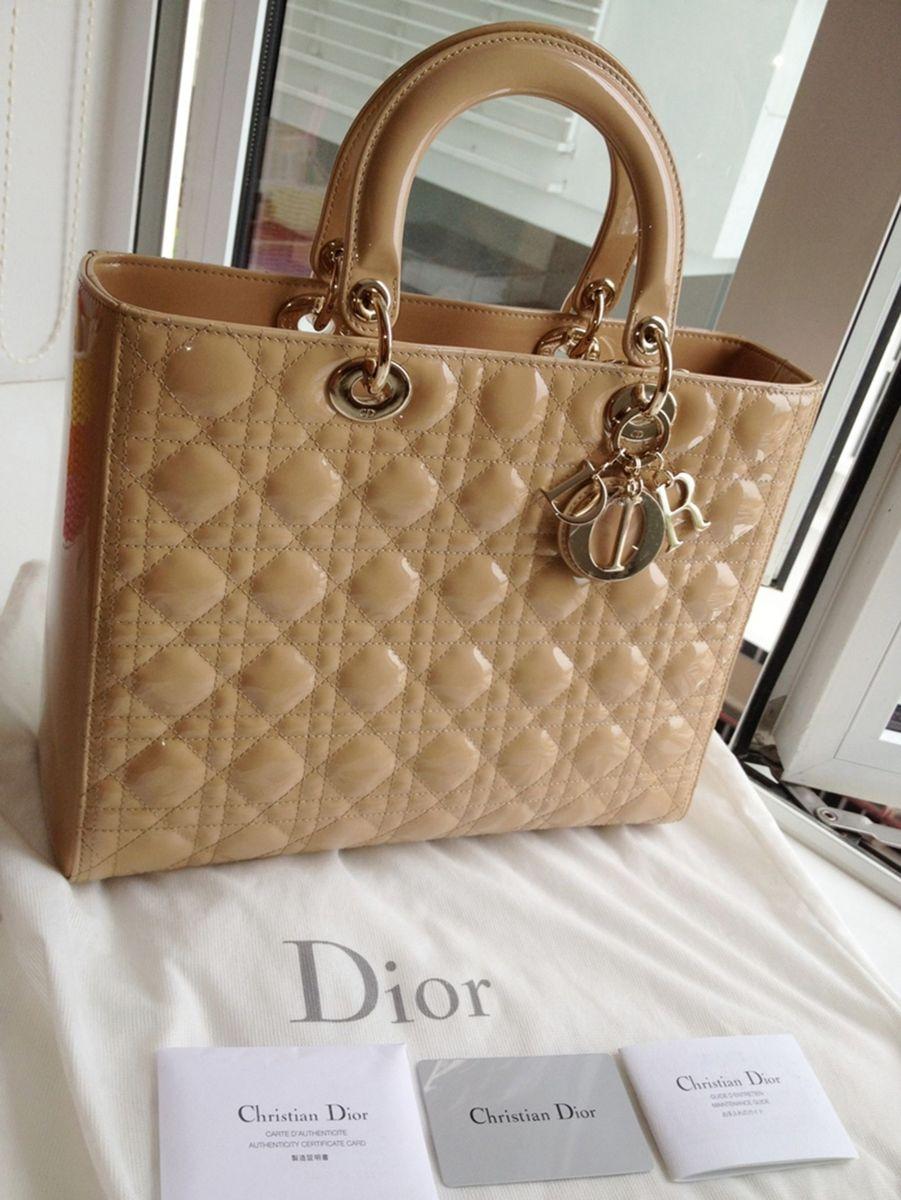 794e15d7a06 bolsa lady dior original com nota fiscal de compra em madrid - de mão dior
