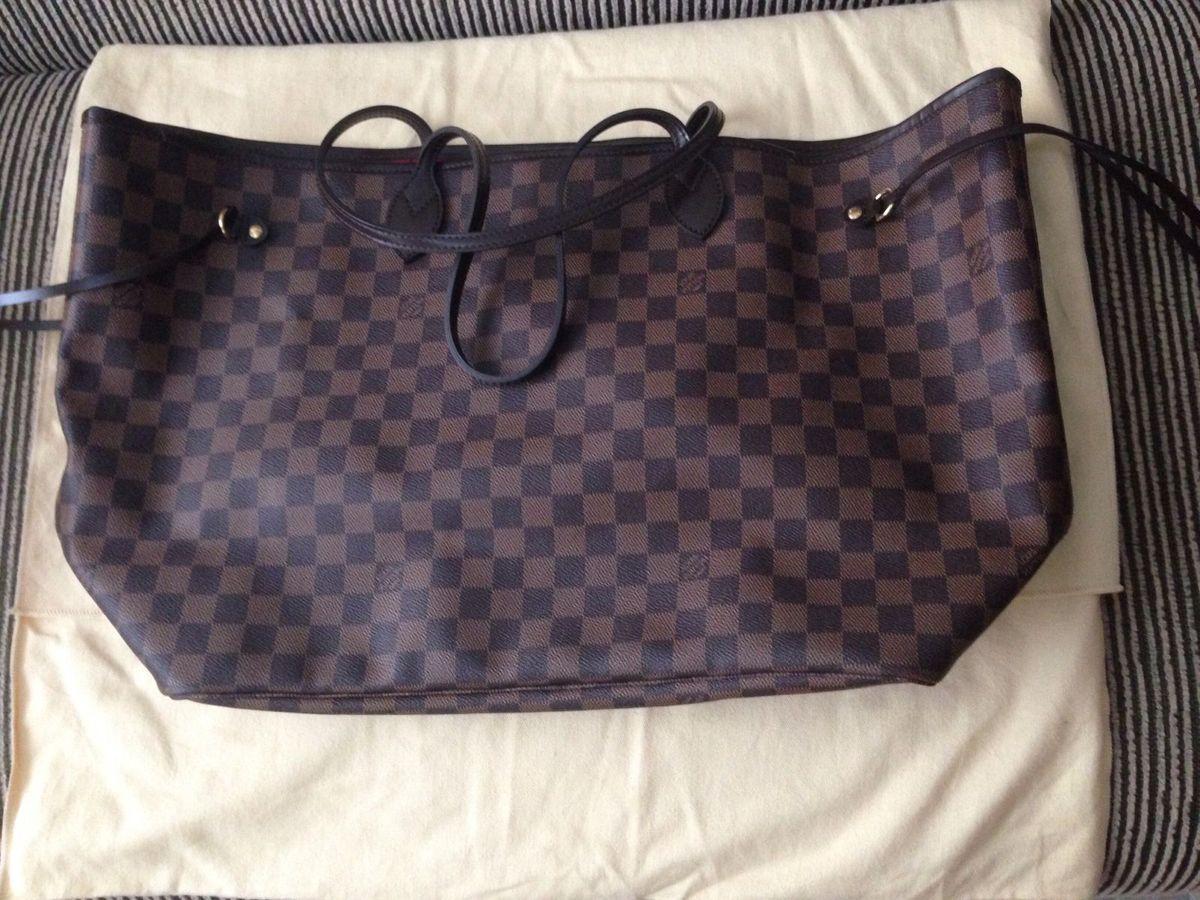 a864d2775 Bolsa Louis Vuitton Neverfull Gm   Bolsa de Ombro Feminina Louis ...