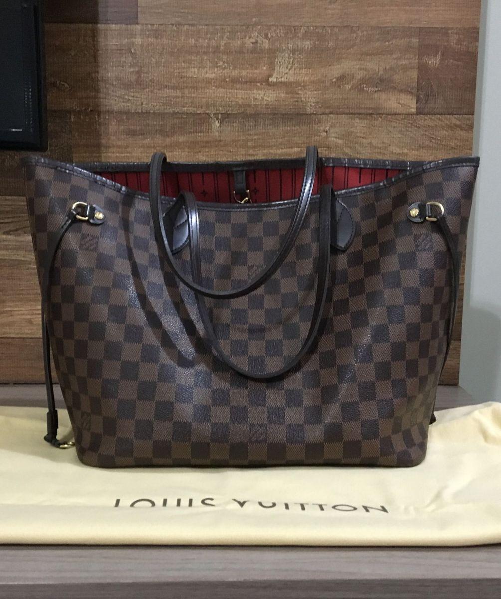 11ec1d5286 Bolsa Louis Vuitton Neverfull Mm Original | Bolsa de Ombro Feminina ...