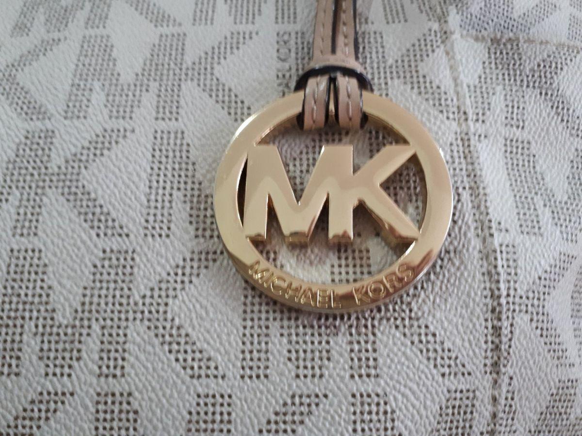 Bolsa Michael Kors Mk Logo East west Signature Tote Baunilha   Bolsa de  Ombro Feminina Michael Kors Usado 26945007   enjoei 68403499bc