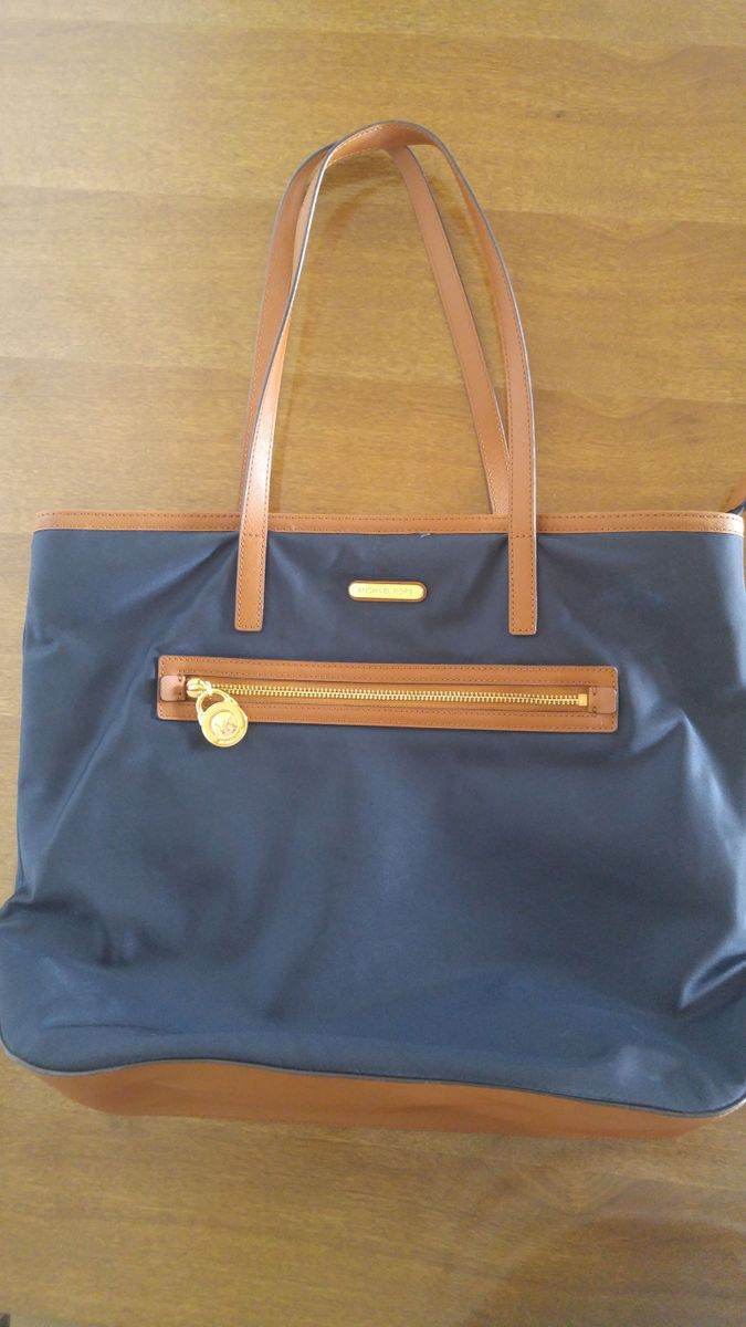 394e84f95 bolsa michael kors - nylon azul - original - importada - ombro michael-kors