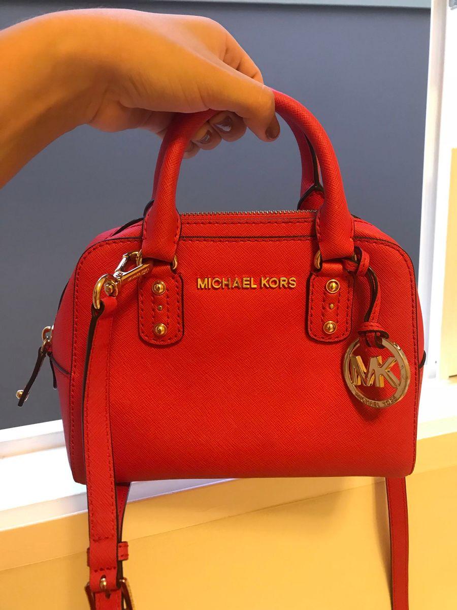 4f4dc1a20 Bolsa Michael Kors Vermelha (original) | Bolsa de Ombro Feminina ...