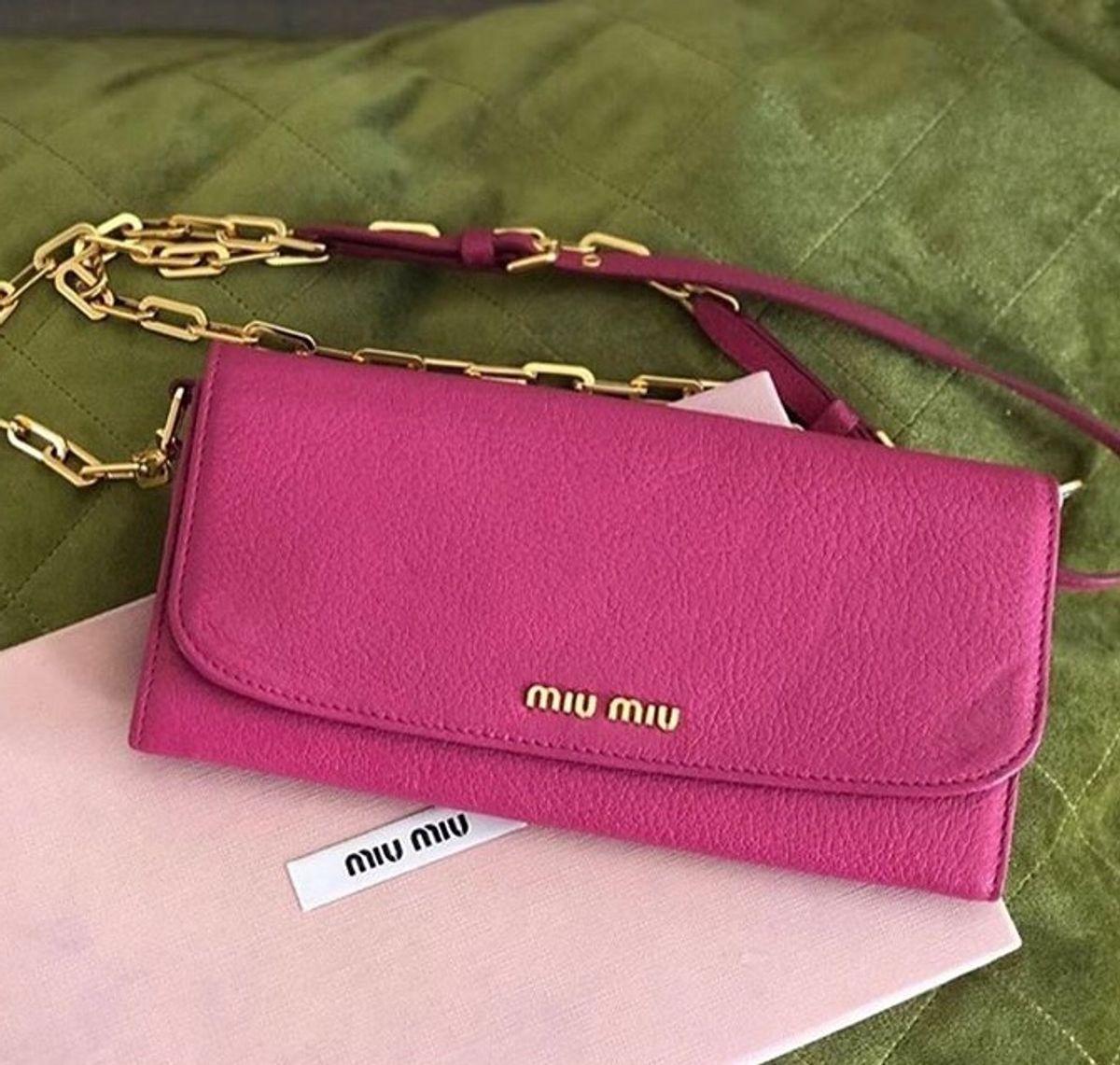 bolsa miumiu wallet original - bolsas miu-miu