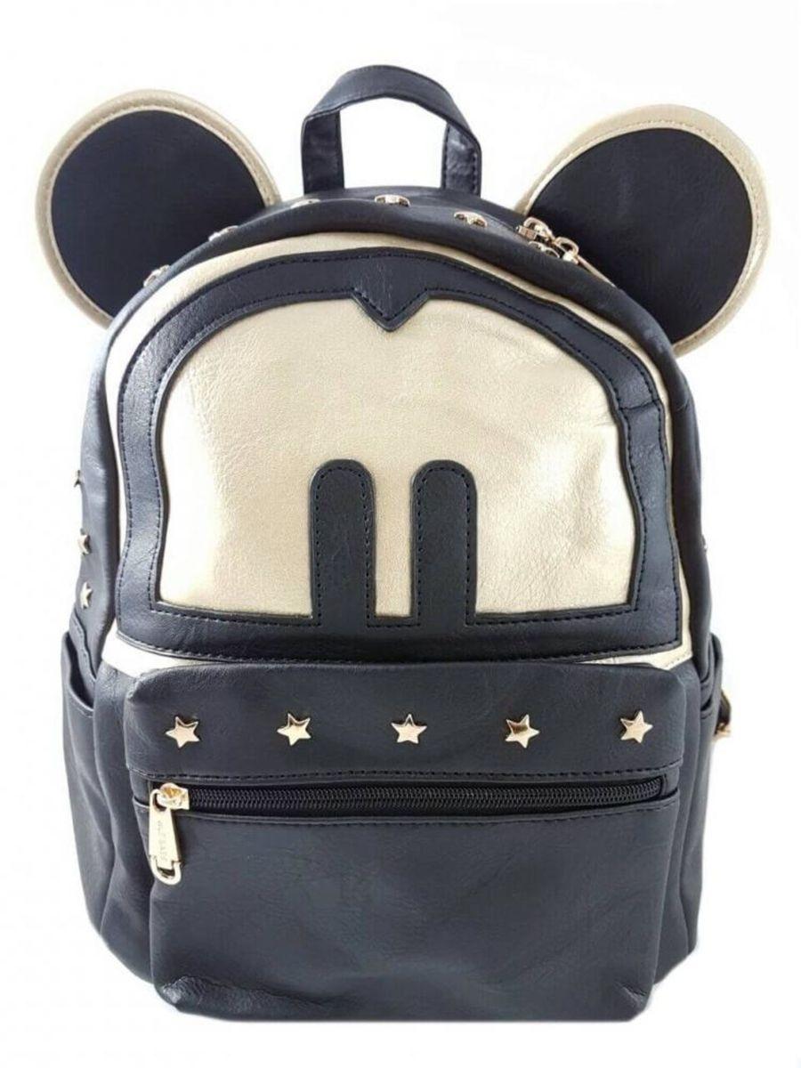 8902f660e bolsa mochila feminina do mickey pequena em couro sintético personalizada -  mochila sem marca