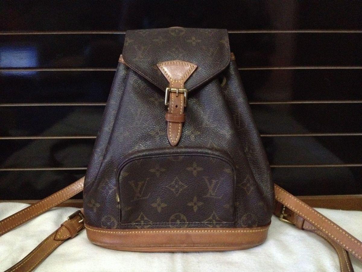 d96e045073 bolsa mochila louis vuitton montsouris monogram original pm - mochila louis  vuitton