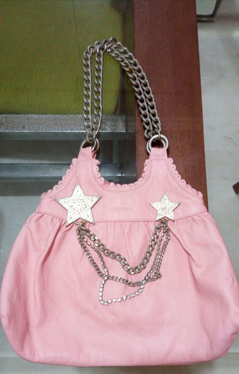 f023d61f9 Bolsa Rosa com Aplicações Triton | Bolsa de mão Feminina Triton ...