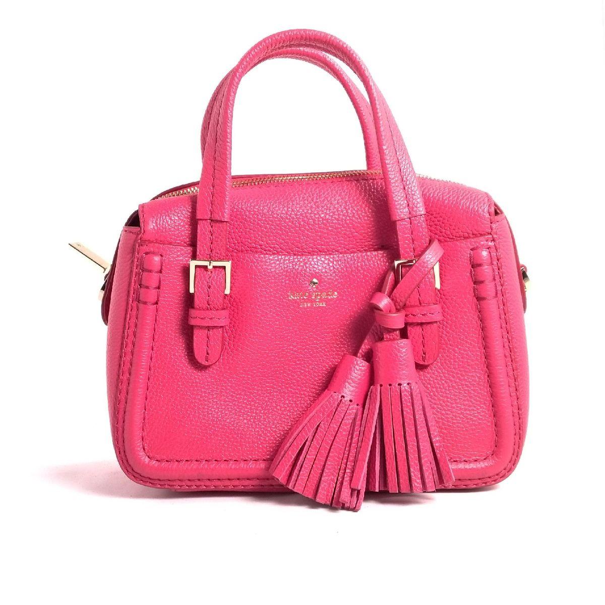 bolsa rosa pink transversal - ombro kate spade