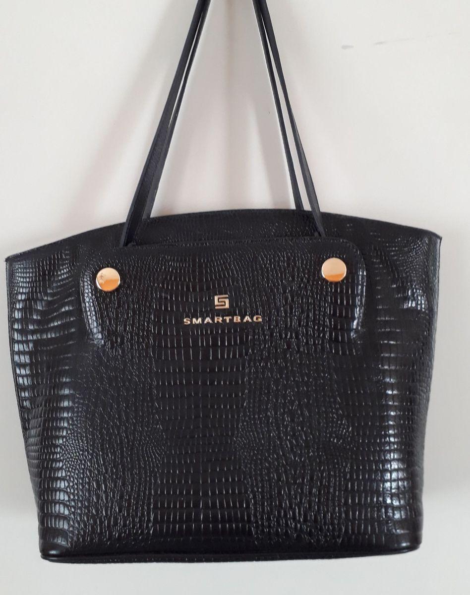907deaf69 Bolsa Smartbag Couro Croco Linda | Bolsa de Ombro Feminina Smartbag ...
