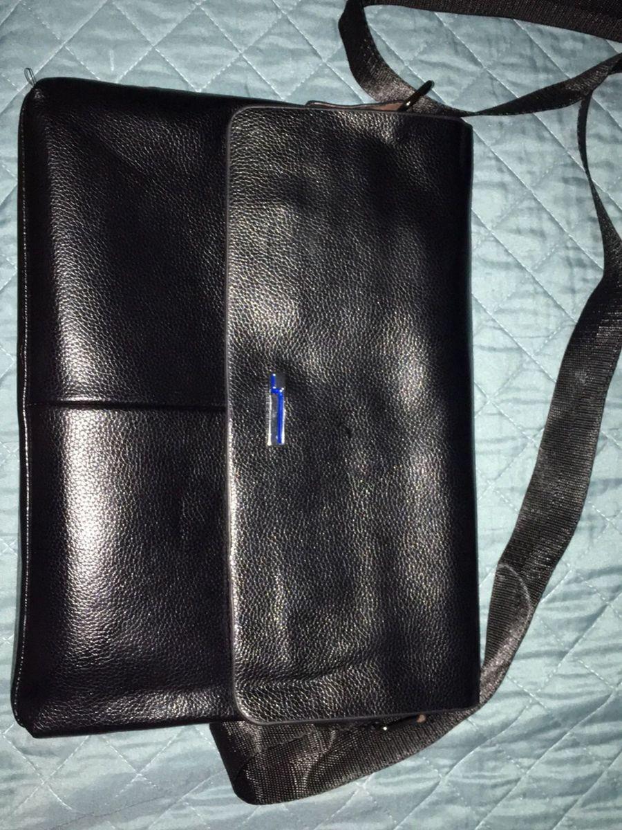 f66c3f42f bolsa tira colo/ pasta de couro legítimo nunca usada - mochila le postiche