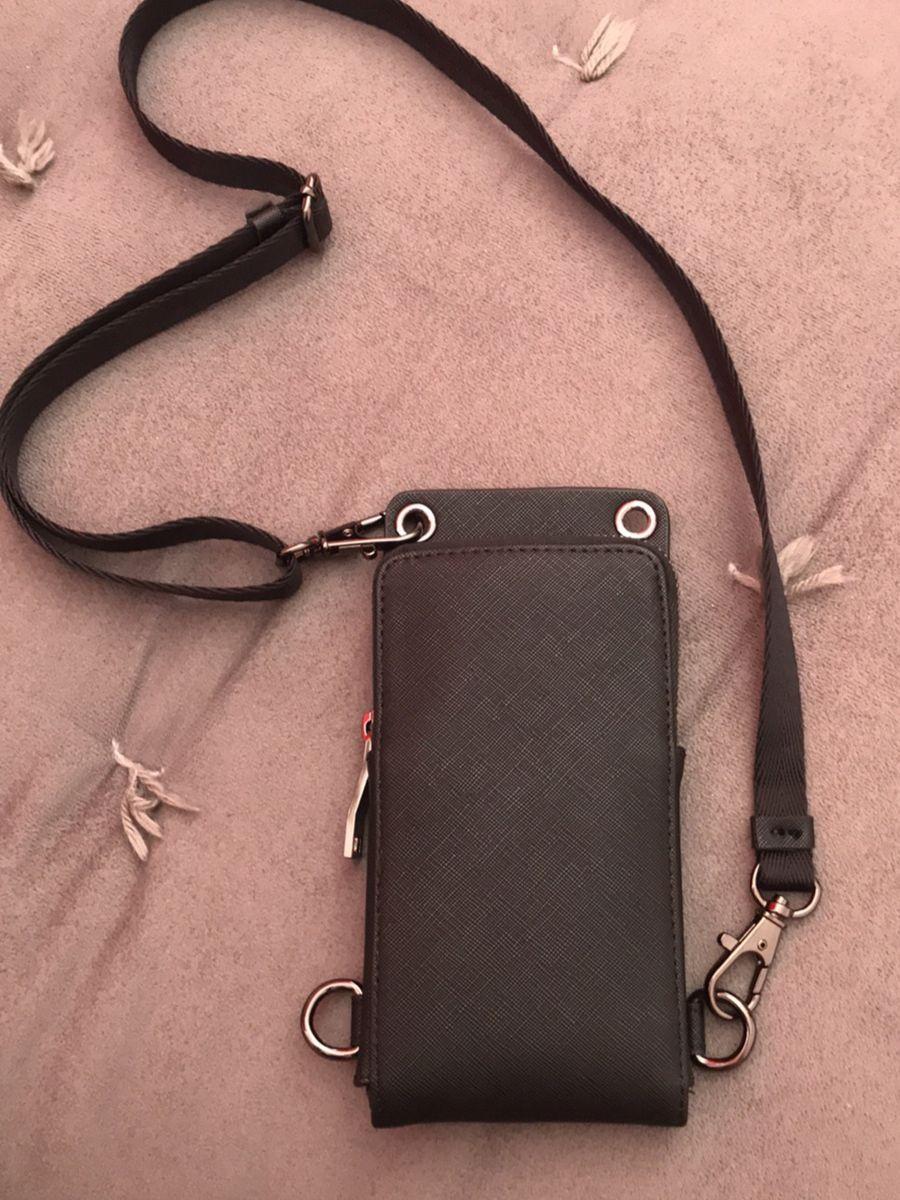 bolsa tiracolo porta celular pochete - bolsas zara