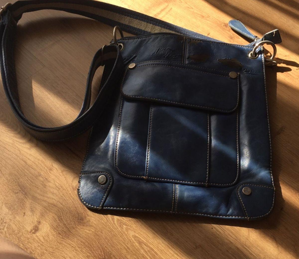 0e77a7442 Bolsa Transversal Retangular Azul | Bolsa de Ombro Feminina ...