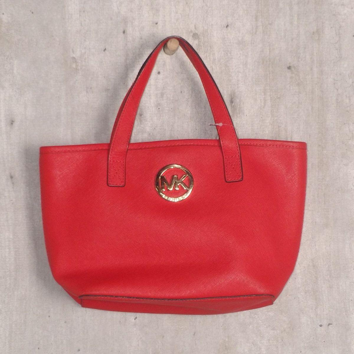 Bolsa Vermelha Michael Kors   Bolsa de mão Feminina Michael Kors ... 58349e0680