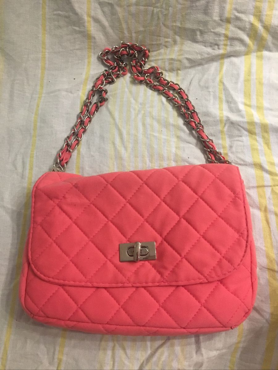 bolsinha corrente rosa - clutches sem marca