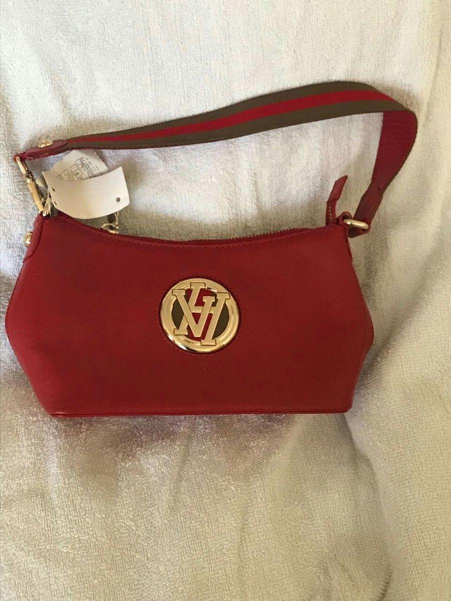 7ad7714997134 bolsinha social em couro vermelho da marca victor hugo - original - ombro  victor-hugo
