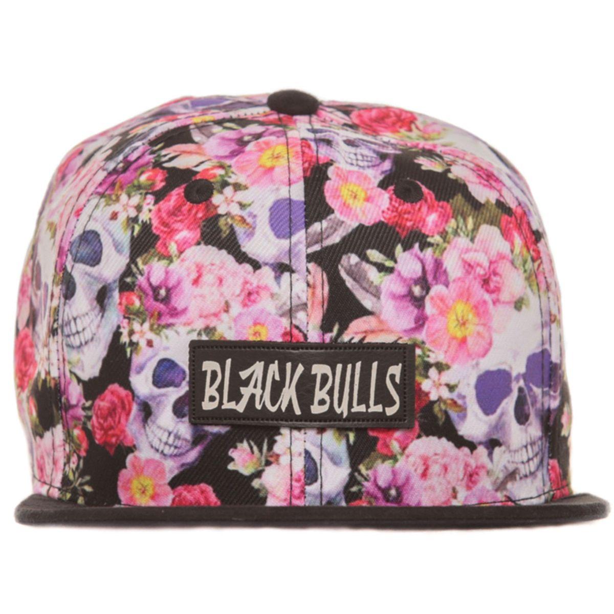 414c9f9c91 boné florido e caveira rosas floral colorido snapback aba camurça. - bonés  black bulls