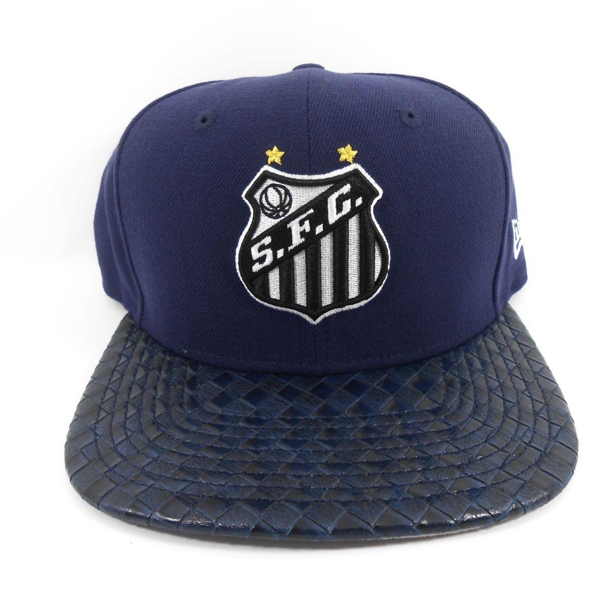 Boné New Era 950 Santos Futebol Clube Simbolo Sublima Azul 28574704 ... b84f6b6c012ff