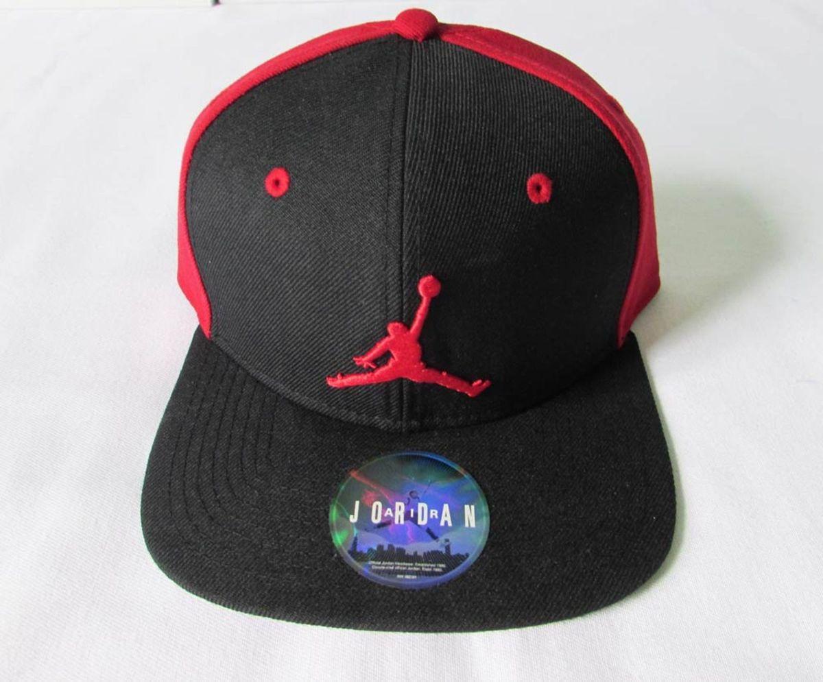 boné nike air jordan jumpman snapback preto vermelho - bonés nike 1e344838ced