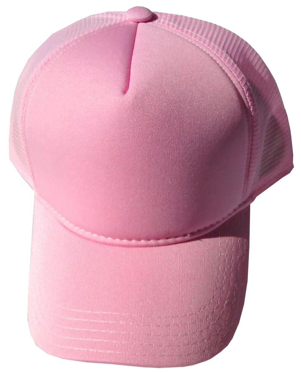boné rosa liso telinha trucker redinha tela snapback aba curva - bonés tkn 9a84ccdd6b2