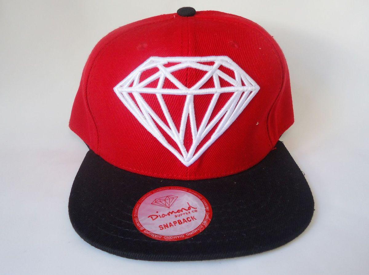cc3b306fa1131 boné snapback diamond supply co - vermelho - bonés diamond