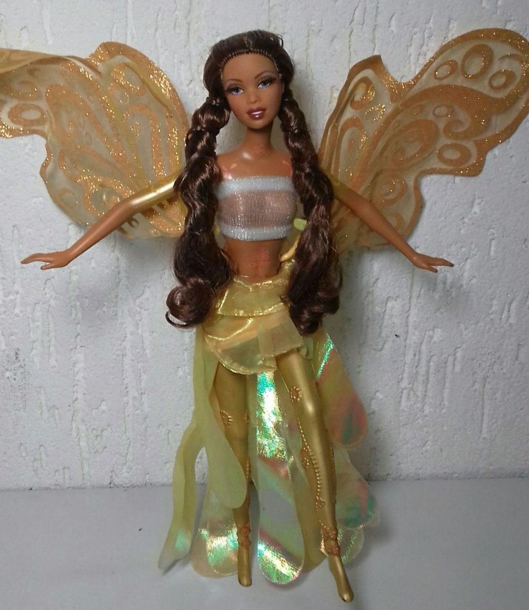 63a948f6a Boneca Barbie Farytopia Mattel Morena Rara | Brinquedo Mattel Usado ...