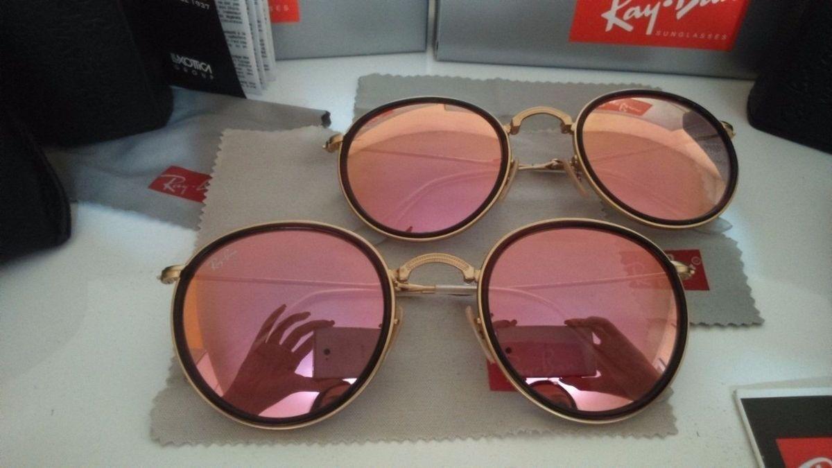 382f56214a2cf bora compra!! óculos ray ban round (dobrável) - óculos ray ban