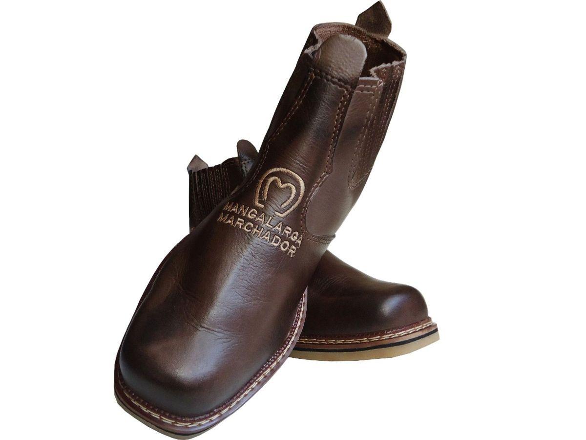 bota botina social masculina couro country texana peao couro - botas  mangalarga marchador 012e32e4109