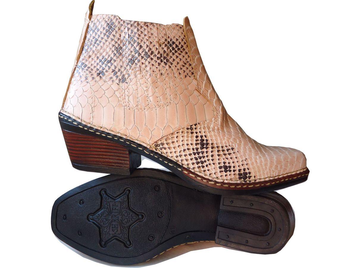 bota botina texana anaconda escamada country 100% couro (novo) - botas  texana c7b17179e46