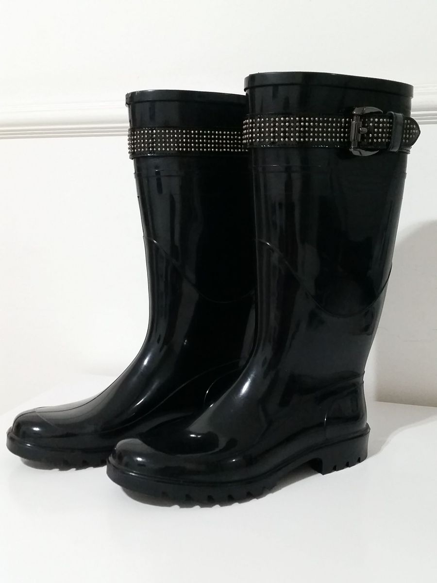 c7903b66ba8 bota burberry preta - rain boots galocha - botas burberry