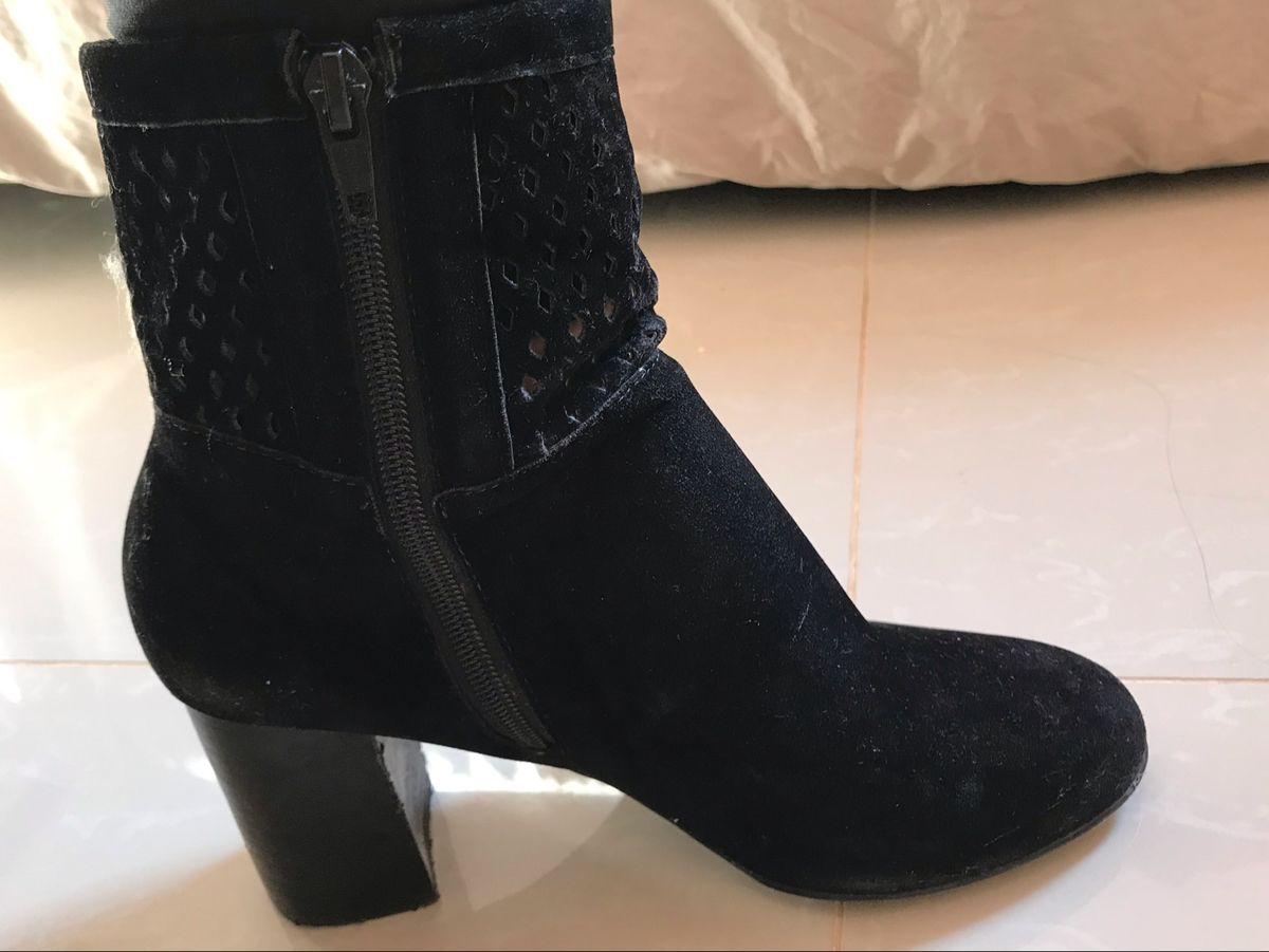 bota camurça cano curto preta - botas sem marca