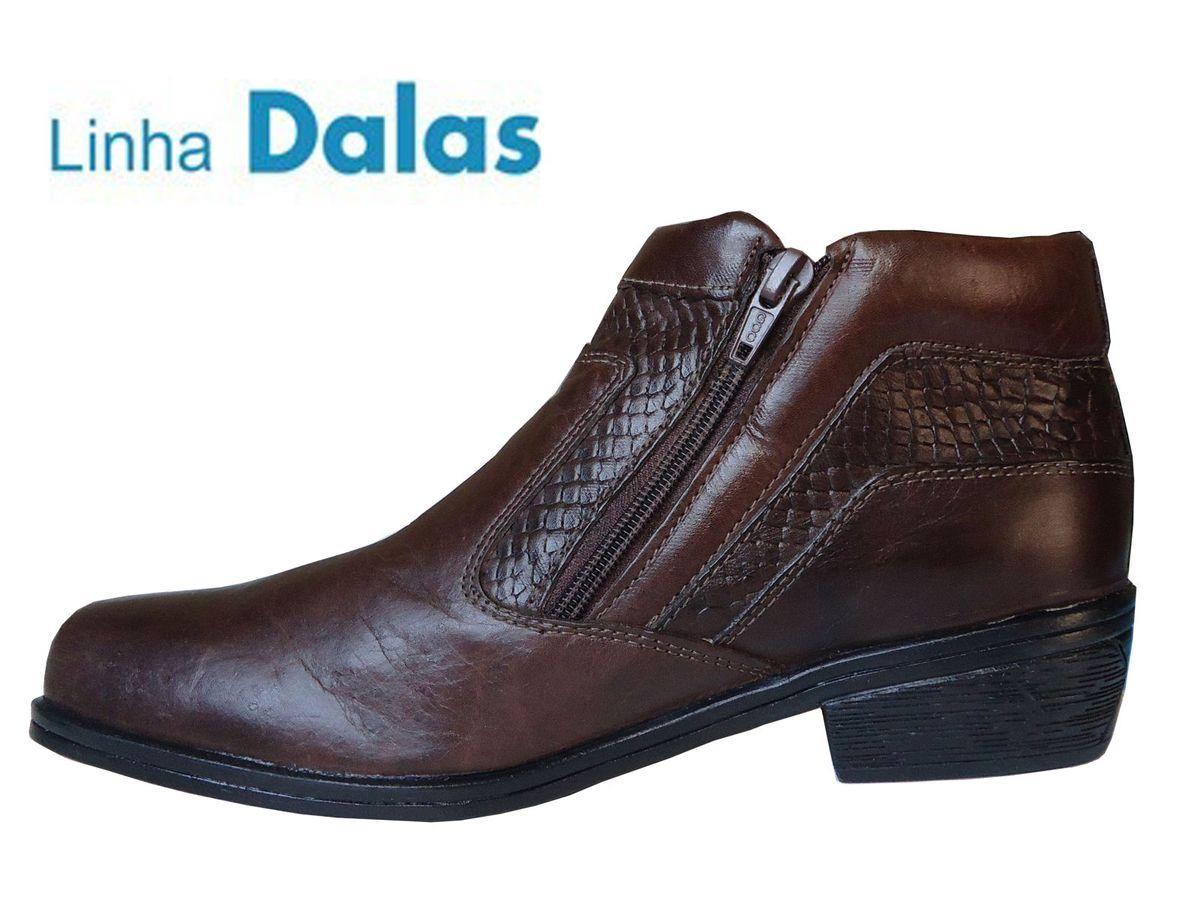 cfde223a3 bota cano curto social preta masculina couro legítimo oferta - botas botina  social
