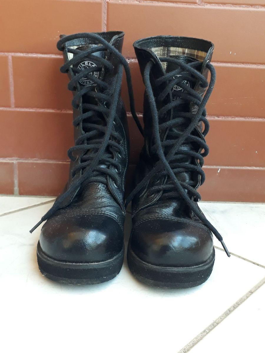 bota cano longo cadarço - botas vilela boots