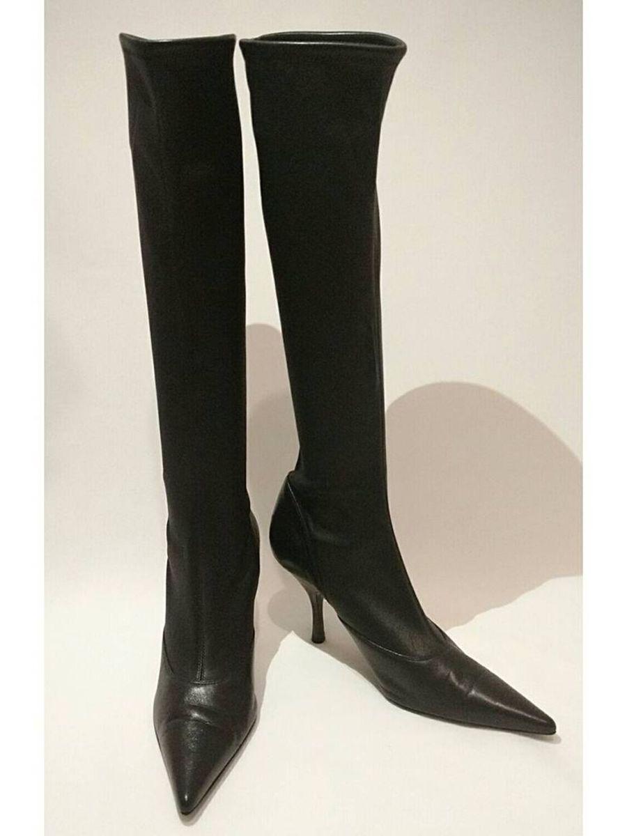 5b79cf289 bota cano longo de couro italiano feminino preta sergio rossi - botas sergio -rossi