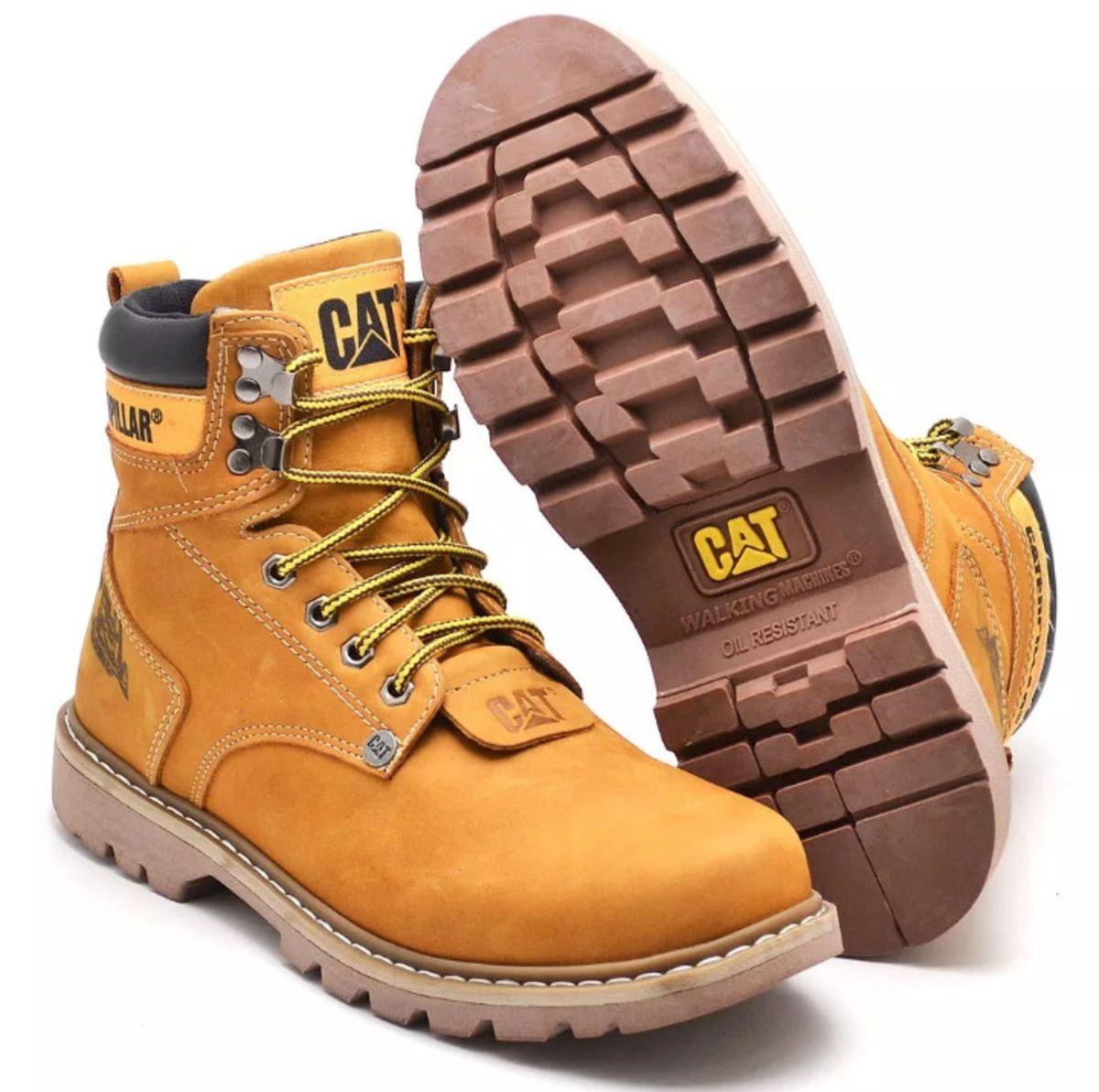 4cdc8c8789 bota caterpillar couro 100%original - botas caterpillar