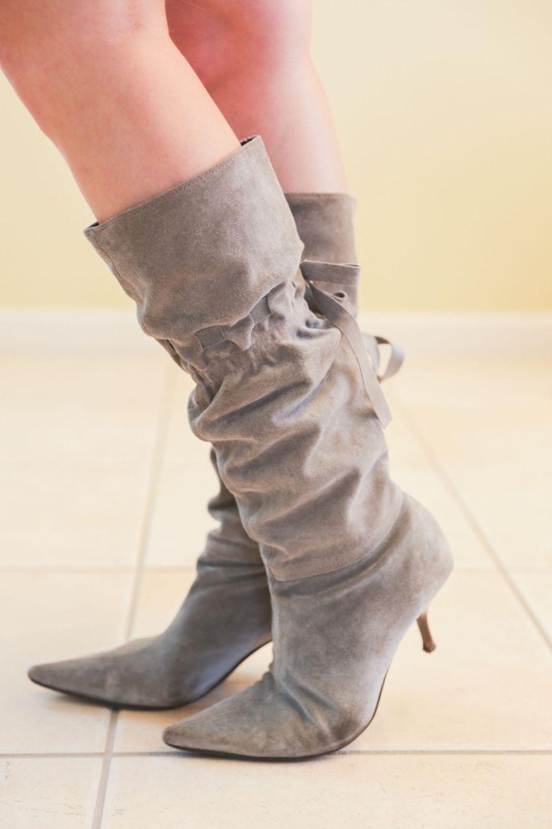 bota cinza romance - botas lia line
