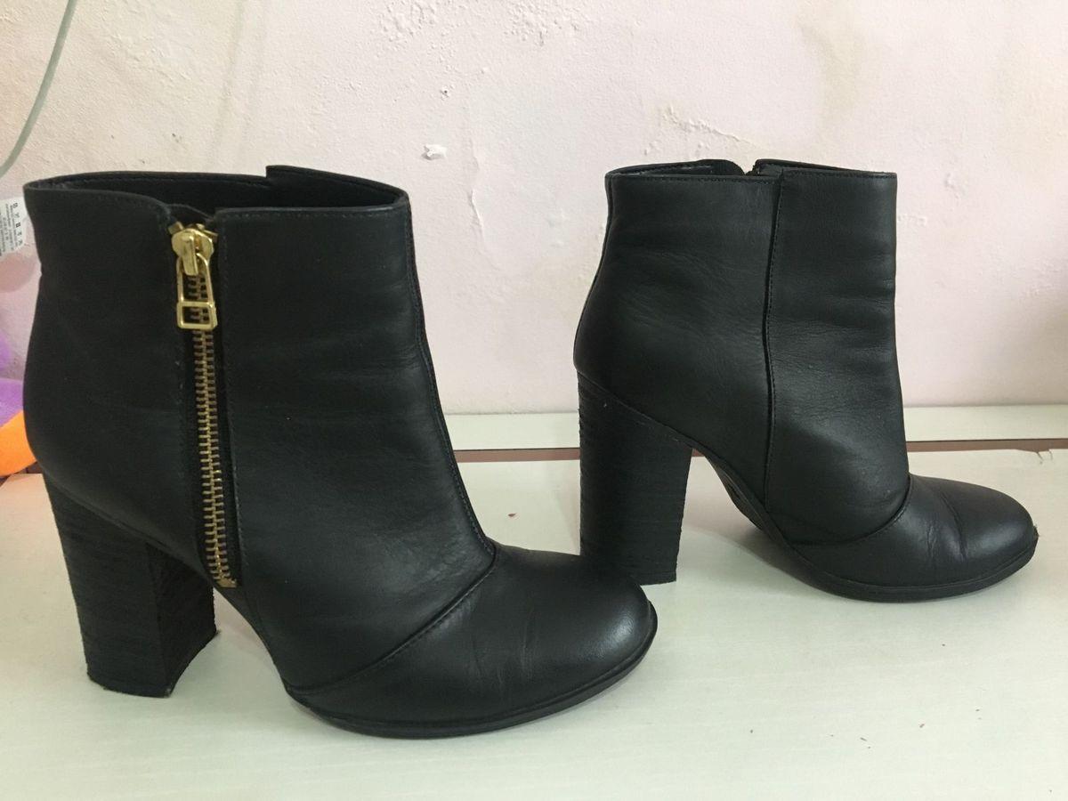 bota de couro cano curto - botas sem marca