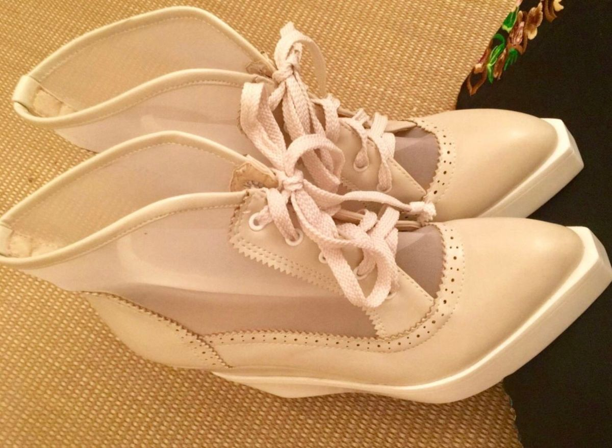 1a7313193c7 bota importada de borracha bege claro com tela. - botas galocha-estilizada- importada