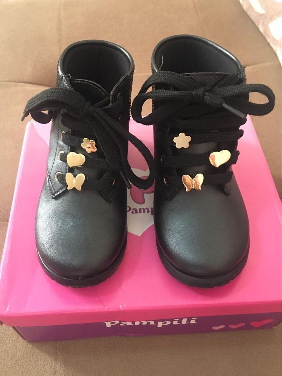 Sandalia Preta   Calçado Infantil para Meninas Danki Usado