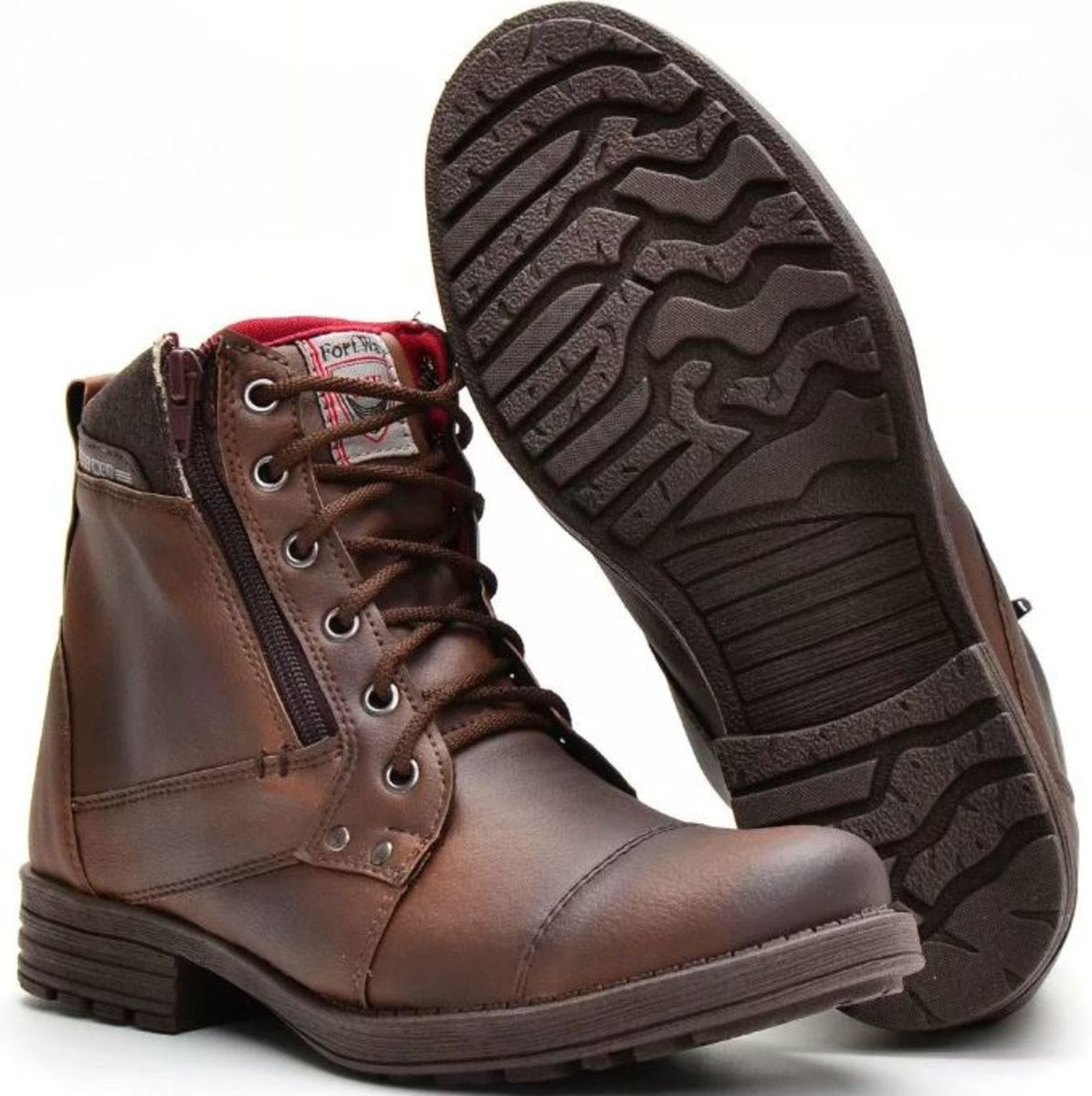 8de8021ff0 bota masculina sapato coturno casual super leve ziper - botas fort way