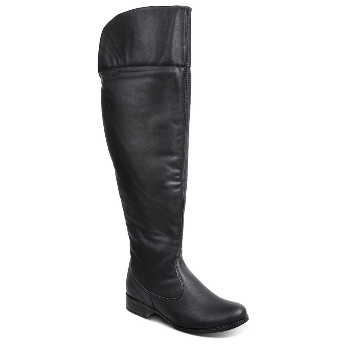 bota over the knee preta com detalhe onça! - botas sem marca a355480e0cbcf
