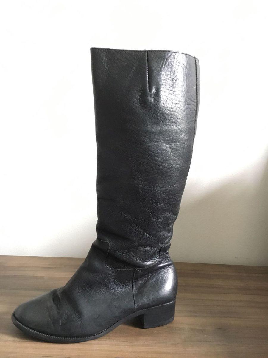 aca81295e87 bota sem salto de cano alto couro - botas palmers