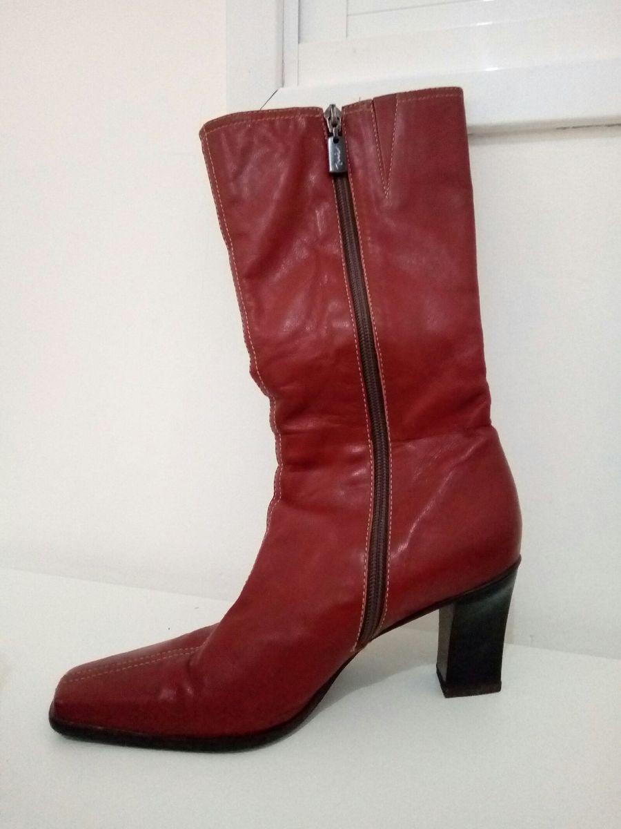 bota vermelho queimado - botas sem marca